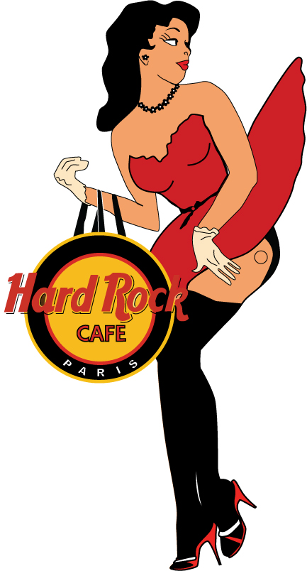 Hard Rock Cafe Pin Up 1